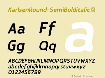 KarlsenRound-SemiBolditalic