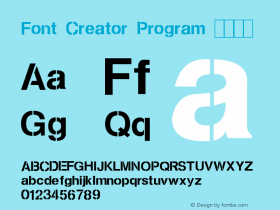 Font Creator Program