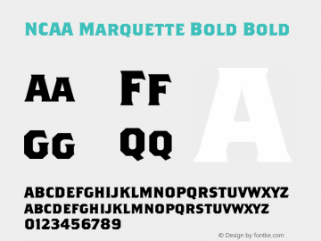 NCAA Marquette Bold