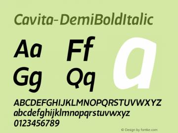 Cavita-DemiBoldItalic