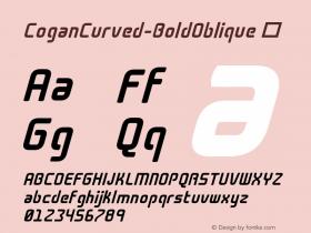CoganCurved-BoldOblique