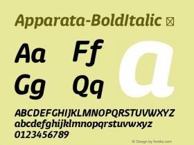 Apparata-BoldItalic