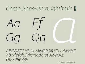 Corpo_Sans-UltraLightitalic