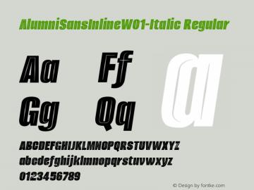 AlumniSansInline-Italic
