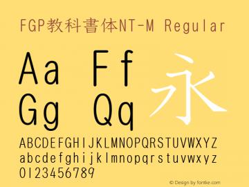 FGP教科書体NT-M