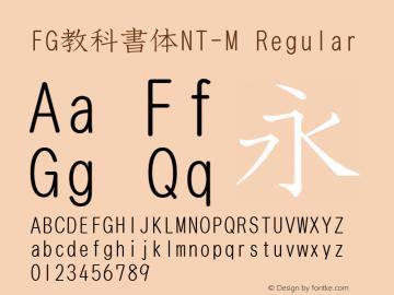 FG教科書体NT-M
