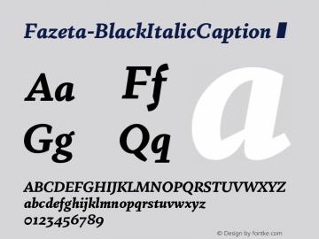 Fazeta-BlackItalicCaption