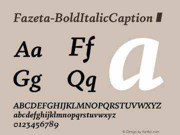 Fazeta-BoldItalicCaption