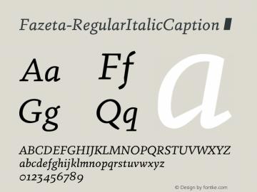 Fazeta-RegularItalicCaption