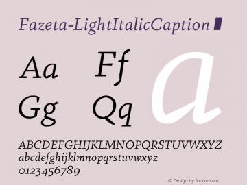 Fazeta-LightItalicCaption