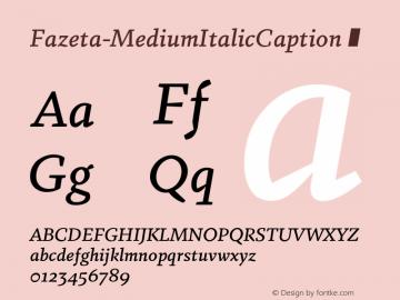 Fazeta-MediumItalicCaption
