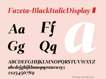 Fazeta-BlackItalicDisplay