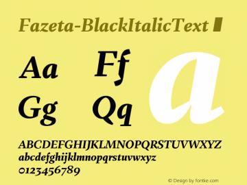 Fazeta-BlackItalicText