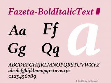 Fazeta-BoldItalicText