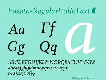 Fazeta-RegularItalicText