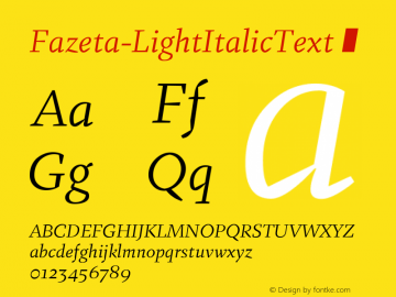 Fazeta-LightItalicText
