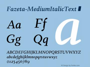 Fazeta-MediumItalicText