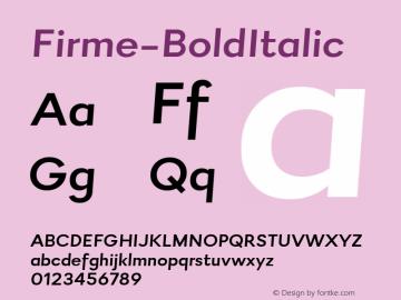 Firme-BoldItalic