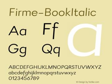 Firme-BookItalic