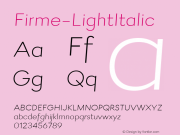 Firme-LightItalic