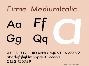Firme-MediumItalic