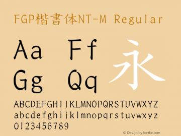FGP楷書体NT-M