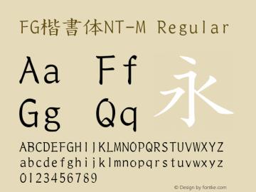 FG楷書体NT-M