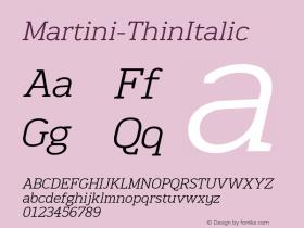 Martini-ThinItalic