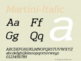 Martini-Italic