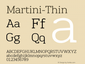 Martini-Thin