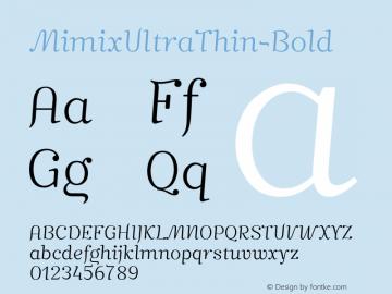 MimixUltraThin-Bold