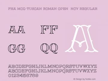 FHA Mod Tuscan Roman Open NCV