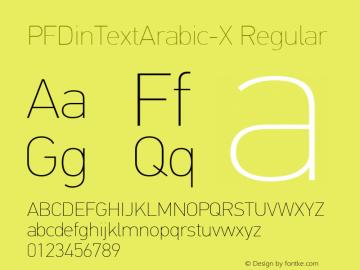 PFDinTextArabic-X