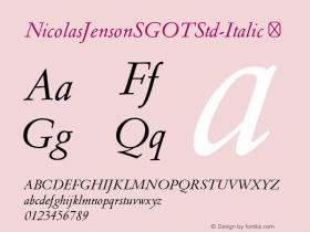 NicolasJensonSGOTStd-Italic