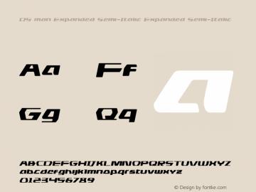 DS man Expanded Semi-Italic