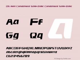 DS man Condensed Semi-Italic