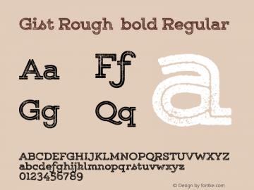 Gist Rough bold