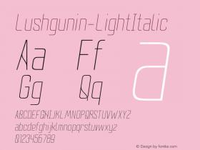 Lushgunin-LightItalic