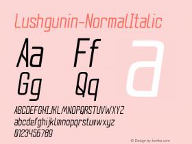 Lushgunin-NormalItalic