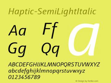 Haptic-SemiLightItalic
