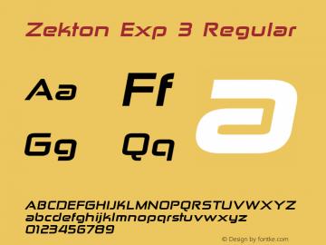 Zekton Exp 3