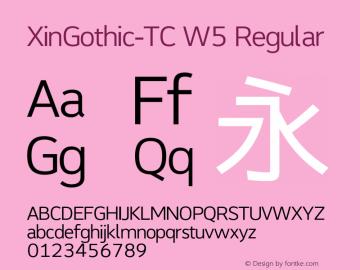 XinGothic-TC W5