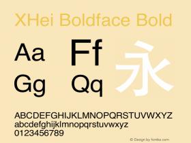XHei Boldface