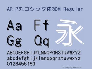 AR P丸ゴシック体3DM
