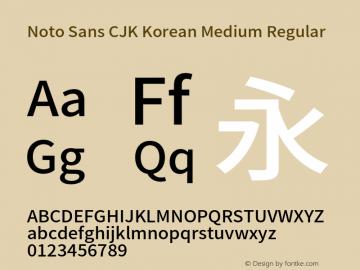 Noto Sans CJK Korean Medium
