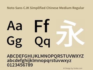 Noto Sans CJK Simplified Chinese Medium