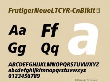 FrutigerNeueLTCYR-CnBlkIt