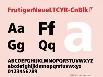 FrutigerNeueLTCYR-CnBlk