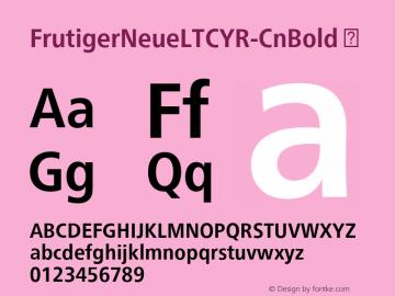 FrutigerNeueLTCYR-CnBold