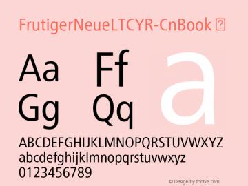 FrutigerNeueLTCYR-CnBook